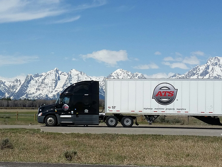 ATS Truck with Mountains